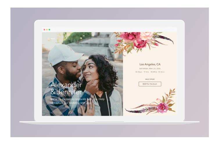 Joy Wedding website planner